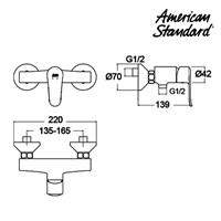 Jual Kran Shower American Standard Neo Modern EX Shower Only Mixer 2