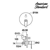 Jual Kran Shower Mixer American Standard Neo Modern Concealed BS Mixer 2