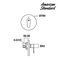 Jual Kran Air American Standard Neo Modern Concealed Shower Mixer  2