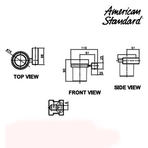 American Standard Acacia Cup & Cup Holder DY 3400-44