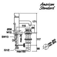 Jual Kran air American Standard Acacia S or L 1 Hole Lavatory 1620 2