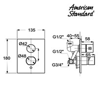 Jual Kran Shower American Standard Acacia S or L In Wall Bath & Shower 2135 2
