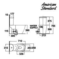 Jual Toilet American Standard Concept D-Shape CCST Toilet 2