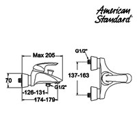 Jual Kran American Standard  Shower Tonic S or L Wall Mounted Bath & Shower Mixer 2