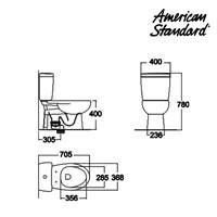 Jual Toilet American Standard OD1 CCST Toilet + Slim Smart Washer 2