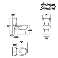 Jual Toilet American Standard OD1 CCST Toilet Round Tank + Slim Smart Washer 2