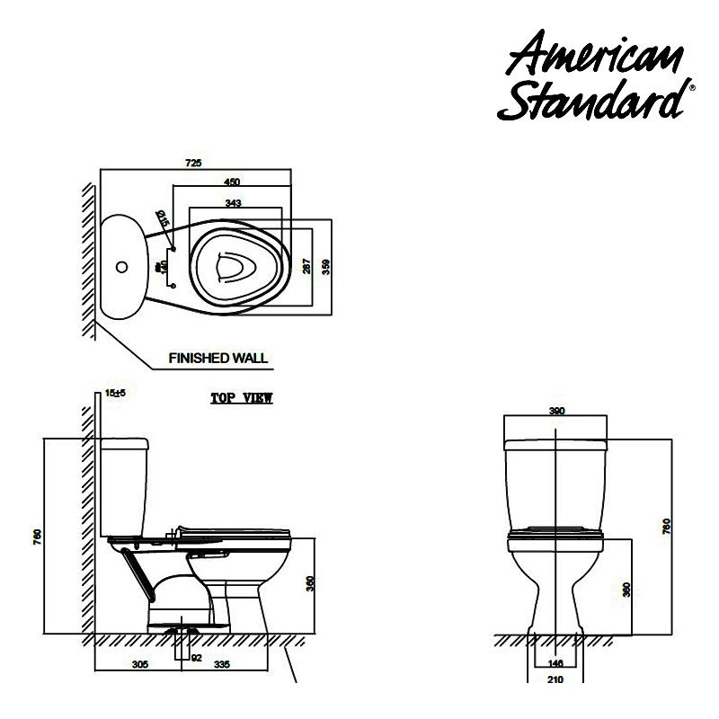 Jual Toilet American Standard Winplus Dual Flush CCST