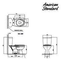 Jual Toilet American Standard Winplus Dual Flush CCST Toilet 2