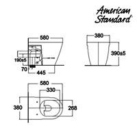 Jual Toilet American Standard Acacia Back to Wall Toilet 2