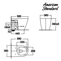 Jual Toilet American Standard Acacia Back To Wall Toilet + Axisse Smart Washer 2