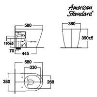 Jual Toilet American Standard Acacia Wall Hung Toilet 2
