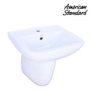 Wastafel American Standard New Codie Square Lava wih Semi Pedestal
