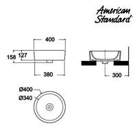 Jual Wastafel American Standard Round Vanitory  2