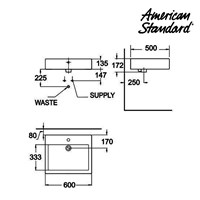 Jual Wastafel American Standard Mizu 60 cm Vanitory 2