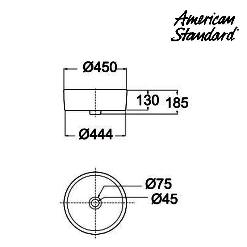 Jual Wastafel American Standard Round Semi Cointertop