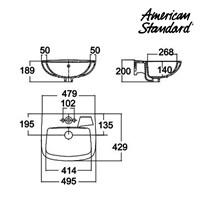 Jual Wastafel American Standard New Codie Square Wall Hung Lavatory 2