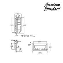 Aksesoris American Standard Soap Holder 11 x 22 cm
