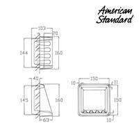 Jual Aksesoris American Standard Soap Holder 15 x 15 cm 2