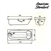 Jual Bathtub American Standard CT-1710 2