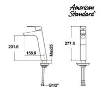 Jual Kran Air American Standard Cygnet SH Extended Vessel Mixer 2