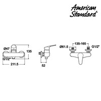 Jual Kran Air American Standard Cygnet Exposed Shower Mixer 2