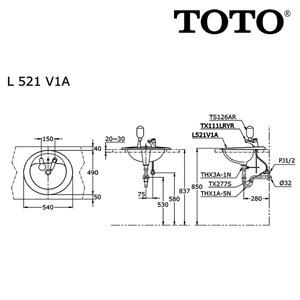 Image result for TOTO L 521 V1A