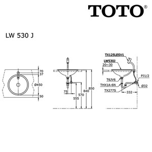 Image result for TOTO LW 530 J