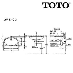 Image result for TOTO LW 549 J