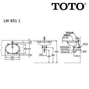 Image result for TOTO LW 651 J