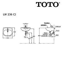 Jual WASTAFEL TOTO LW 236 CJ 2