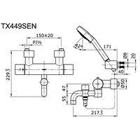 Jual Shower Toto TX 449 SEN 2