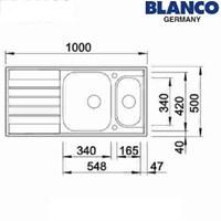 Jual Kitchen Sink Blanco Livit 6 S 2