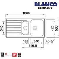 Jual Kitchen Sink Blanco Livit 6 S Centric  2