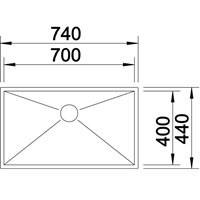 Jual Kitchen Sink Blanco Zerox 700 -IF 2