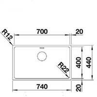Jual Kitchen Sink Blanco Andano 700 -U 2