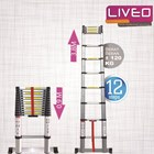 Tangga Single Telescopic (3.8 m) Liveo LV 202  3