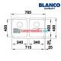 Distributor Blanco Bak Cuci Piring tipe 340-340-U 3