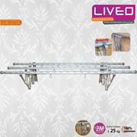 Jual Gantungan baju dinding 3 Bars Aluminium Liveo GW 379A 2