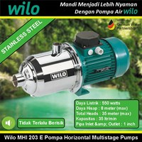 Wilo Pompa air tipe MHI203E Pompa Horizontal Multistage Stainless Steel