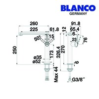 Distributor Blanco kran air ELOS one 3