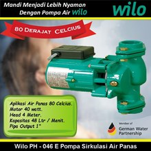 Wilo PH - 046 E Pompa Sirkulasi Air Panas 80 Celcius (Hot Water Circulation Pumps)