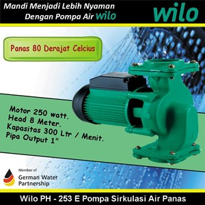 WIlo PH - 253 E Pompa Sirkulasi Air Panas 80 Celcius (Hot Water Circulation Pumps)