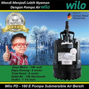Wilo PD - 180 E Pompa Submersible Air Bersih
