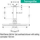 hansgrohe OverHead Shower Raindance 240 2