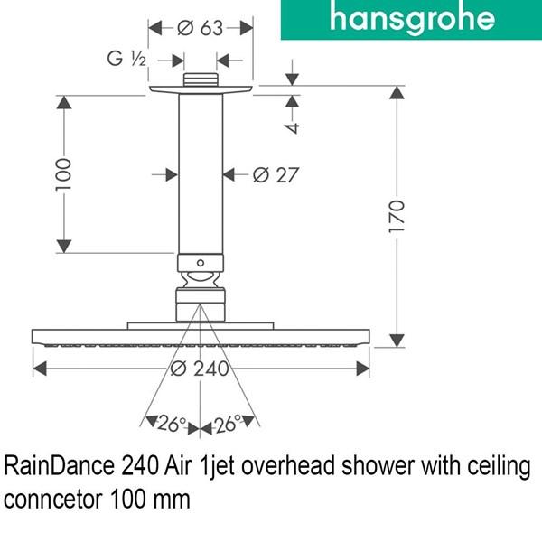 hansgrohe OverHead Shower Raindance 240