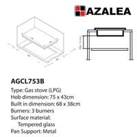 Distributor Azalea AGCL753B Kompor Tanam Premium 3