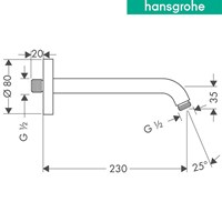 Distributor hansgrohe shower arm 230 mm 3
