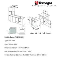 Jual Tecnogas FN3K66G3x Oven Premium  2