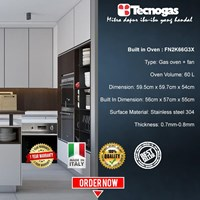 Tecnogas FN2K66G3X Oven