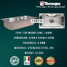 Tecnogas TS871V Kitchen Sink